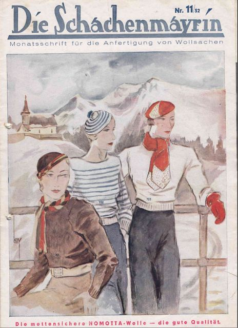 The Vintage Pattern Files: Free 1930's Sewing, Knitting & Crochet Booklet - Die Schachenmayrin 11/32