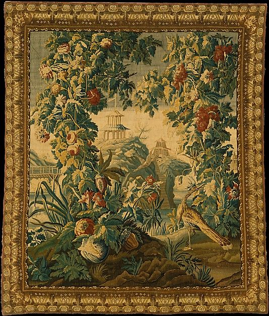 """Woven at Aubusson (Manufacture Royale, est. 1665: Manufacture, ca. 1812–present day). Fantastic Landscape, ca. 1725. The Metropolitan Museum of Art, New York. Gift of Alexander Smith Cochran, 1911 (11.175.17) 