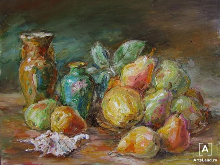 Китайские вазы и фрукты