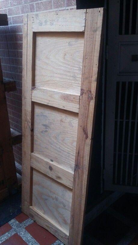 Tapa de cajon de madera antes....
