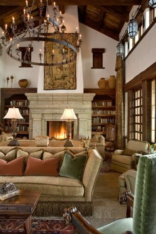 25 best spanish living rooms ideas on pinterest for Spanish colonial revival living room