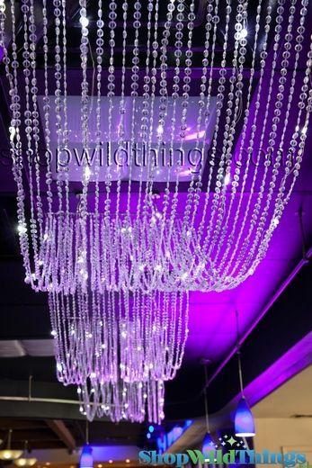 Diamonds Non Iridescent Led Ceiling Drape Amp Canopy Warm