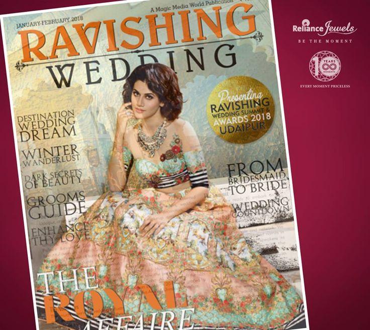Ravishing Wedding Magazine January February 2018 featured Reliance Jewels elegant earring with other trending style.  #asseenin #mediacoverage #RelianceJewels