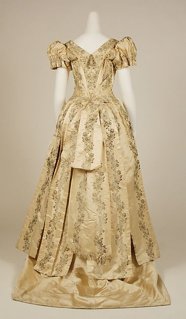 Evening dress Date: late 1880s Culture: American