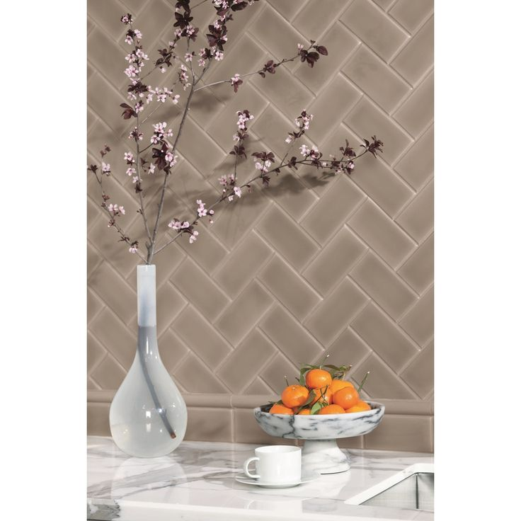 Shop Allen Roth 9 Pack Chocolate Ceramic Wall Tiles