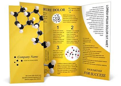 Molekula modell Prospektus Sablon