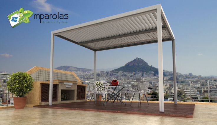 Pergola with movable wings