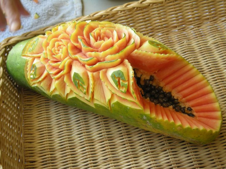 Best carving papaya images on pinterest food art