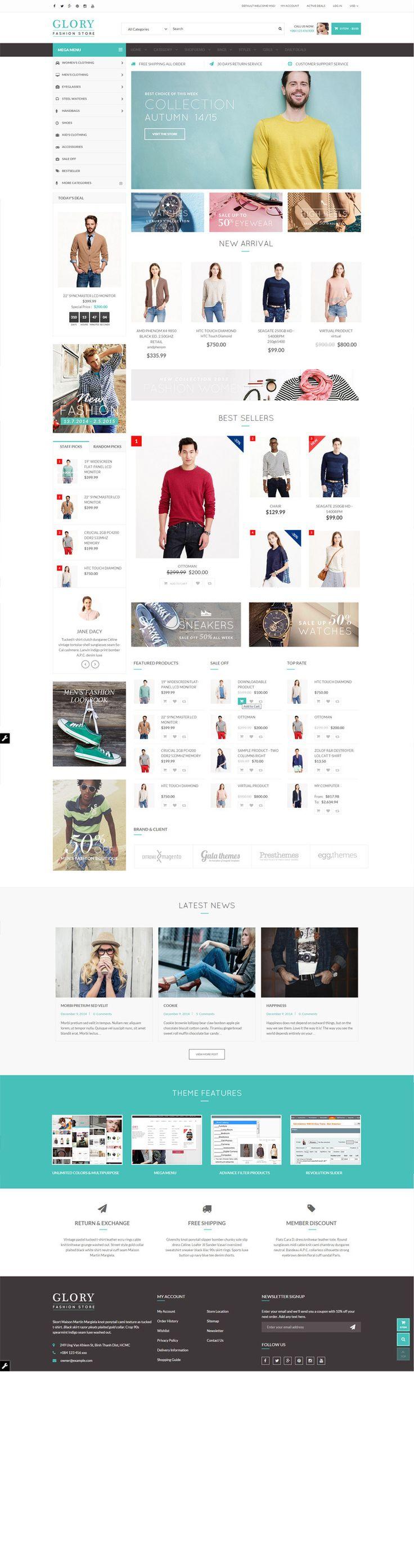 Glory - Magento Theme Multi-Styles Mobile Friendly | ThemeForest #magento #theme #template #supermarket #shoppingmall #market #ecommerce #deal