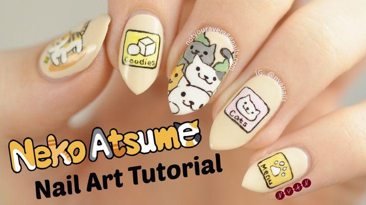 #NekoAtsume Kitty Collector Nail Art Tutorial