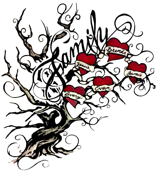 Family Tree Tattoo Designs Aqxdotk -
