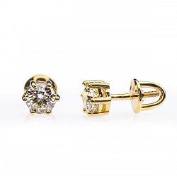 Купить золотые серьги с бриллиантами ➤ http://zolotoy-standart.com.ua/catalog/sergi/zolotye-sergi-s-brilliantami-e0465/