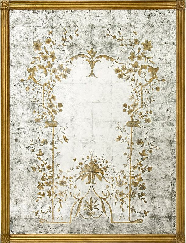 Another personal verre eglomise mirror favorite by John Richard