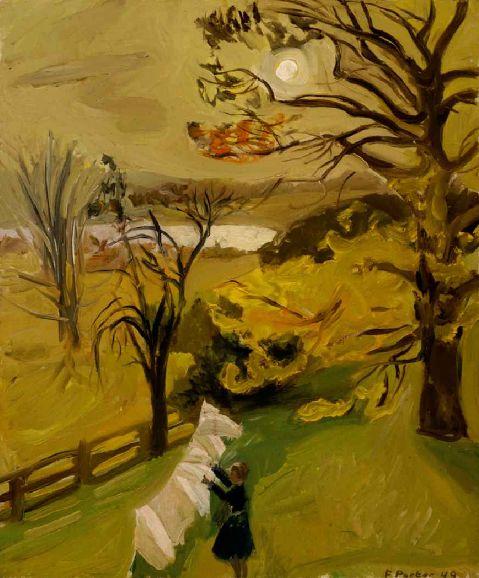 Fairfield Porter:  Autumn Morning. 1949