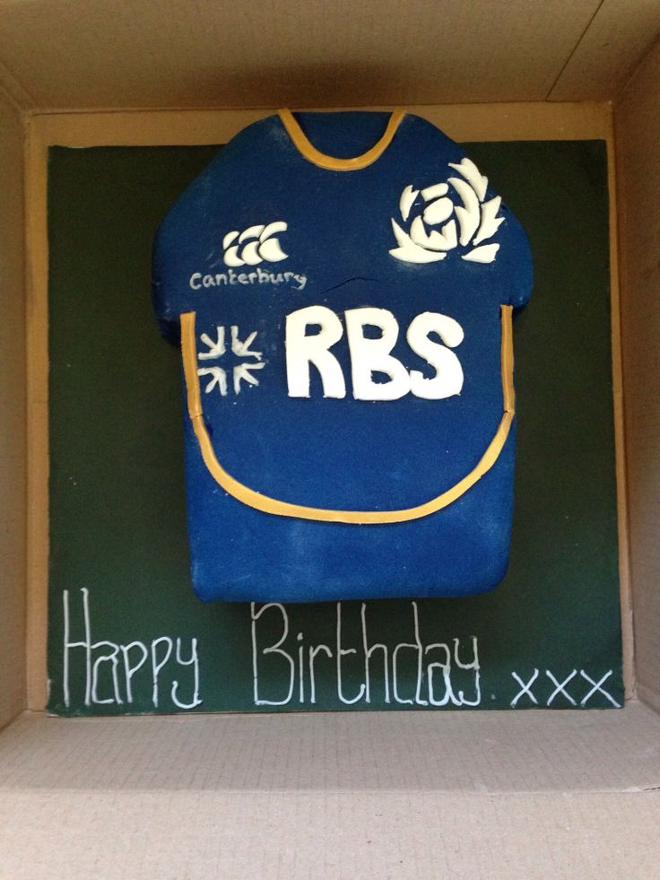Scotland Rugby Top birthday cake