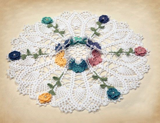 Free Crochet Patterns For Butterfly Doilies : Crochet Seasonal Doily Patterns - Butterfly Garden ...