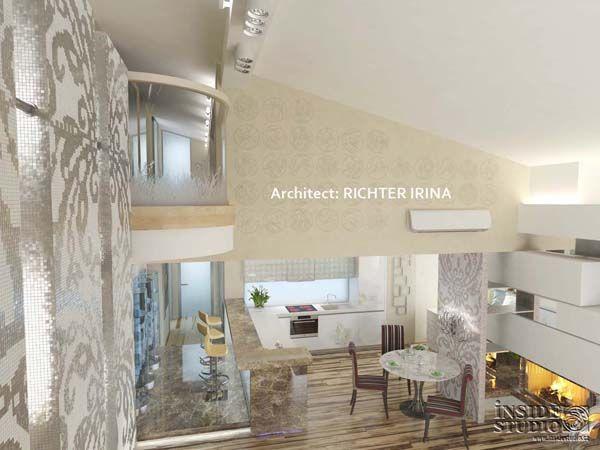 Дизайн-проект интерьера квартиры в стиле жилого минимализма. Архитектор Рихтер Ирина  INSIDE-STUDIO Prague