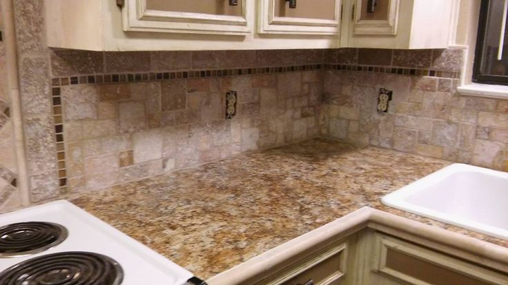 Countertop Jobs : countertop with travertine chairrail. tile and countertop jobs ...