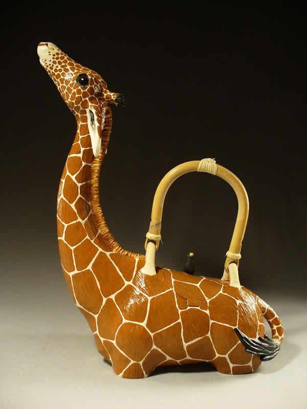 Giraffe Teapot by Christy Crews Dunn