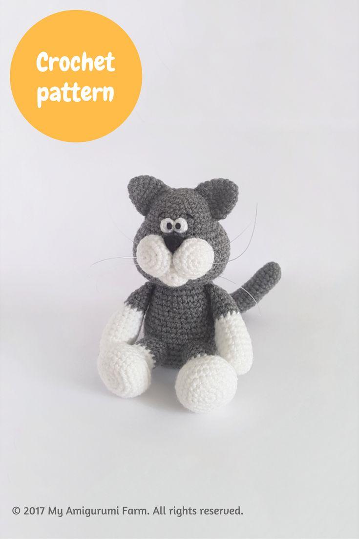 Crochet cat amigurumi pattern