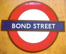 BOND STREET VINTAGE LONDON UNDERGROUND SIGN FOR SALE
