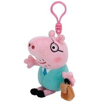 Buy Daddy Pig TY Beanie Clip Key Chain! Official Peppa Pig World Merchandise.