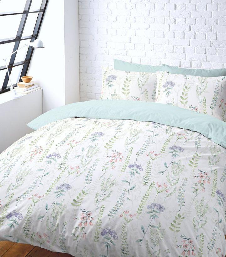White Floral Double Duvet Set | New Look
