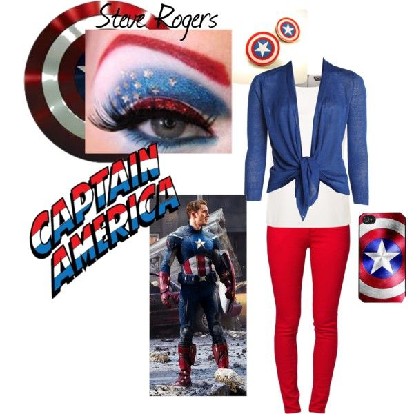 """""""Girls Captain America Outfit"""" by lizzieroo on Polyvore"""