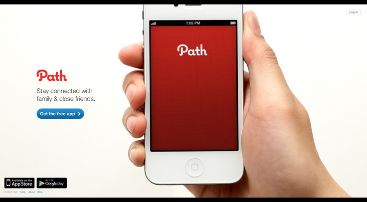 Path.com. The whole page is a giant video.