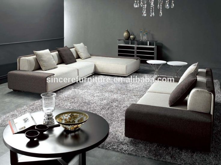 Italian Design Fabric Corner Sofa Set Modern Style Living Room Fabric Sofa
