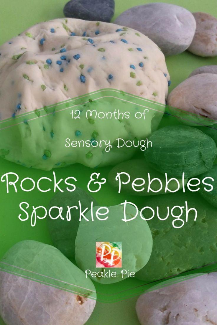 Nature Led rocks and Pebbles Sparkle Dough
