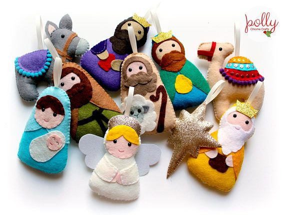 Make Your Own felt Nativity Garland Kit Christmas garland