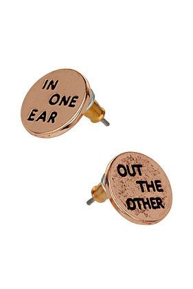 """""""In One Ear"""" & """"Out The Other"""" Earrings"""