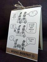 """Kartka z komiksem! Ciekawy pomysł na kartkę z okazji zbliżającej się """"Barbórki""""! Na pewno ucieszy niejednego górnika! :)"""