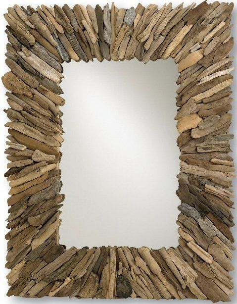 Rectangular Natural Driftwood Mirror