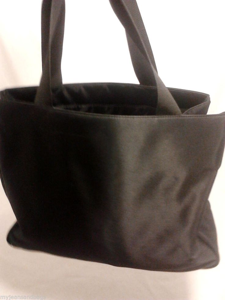 GAP Handbag, Tote, Shopper, Carryall, in Black Microfiber #GAP #TotesShoppers