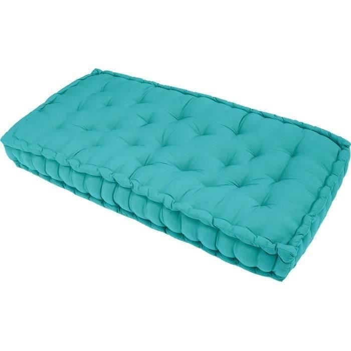 finlandek matelas de sol banquette j ms 100 coton turquoise 60x120x15cm banquettes lits. Black Bedroom Furniture Sets. Home Design Ideas