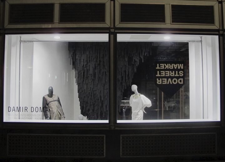 Damir Doma window at Dover Street Market Spring Summer 2012, London visual merchandising: Summer 2012, Doma Spring, Street Marketing, Window Display, 2012 Window, Damir Doma, Dovers Street, Spring Summer, Display Window