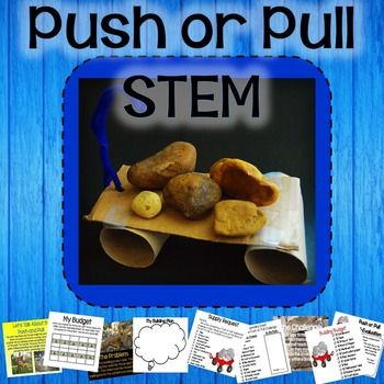 Pushes and Pulls - Oh no!  The truck broke down, but the rocks still need moved!  Build a way to move the rocks using the available supplies, but be sure to stay on budget!  This Pushes and Pulls STEM activity engages students' problem solving skills, engineering thinking, and math skills.