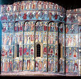 Detail painted monasteries of romania
