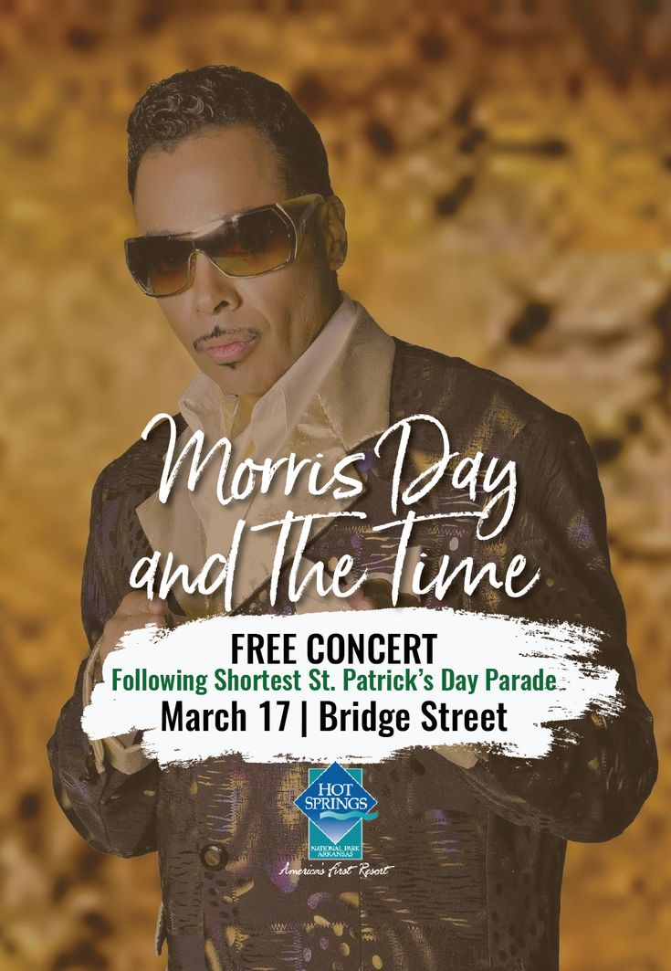 Morris Day and the Time are bringing it to you in a FREE outdoor concert  following the World's Shortest St. Patrick's ...