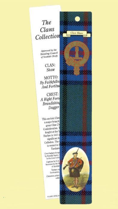 For Everything Genealogy - Shaw Clan Tartan Shaw History Bookmarks Set of 2, $3.00 (http://www.foreverythinggenealogy.com.au/shaw-clan-tartan-shaw-history-bookmarks-set-of-2/)