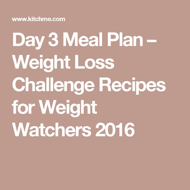 Day 3 Meal Plan – Weight Loss Challenge Recipes for Weight Watchers 2016