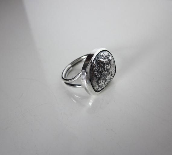 This Ring Has Been Reticulated And Oxidized To Show That Beautiful