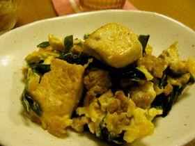 挽き肉の旨味を含んだ~豆腐チャンプルー♪