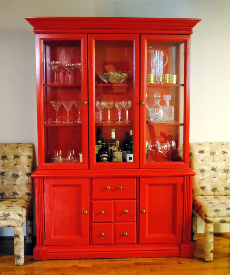 red china cabinet turned bar a possibility