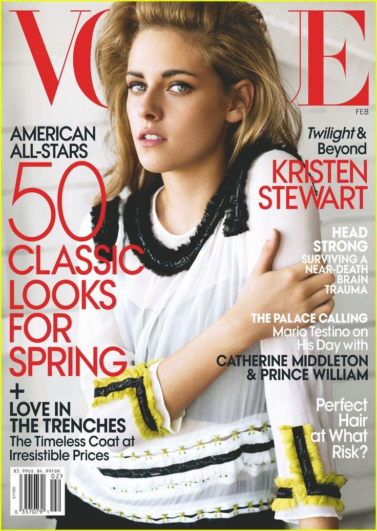 Kristen Stewart for Vogue.: Mario Testino, Magazine Covers, Fashion, Kristen Stewart, Magazines, February 2011, Vogue Magazine, Vogue Covers, Kristenstewart