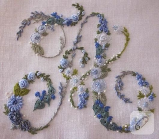 brezilya nakışı rokoko çiçek örneği