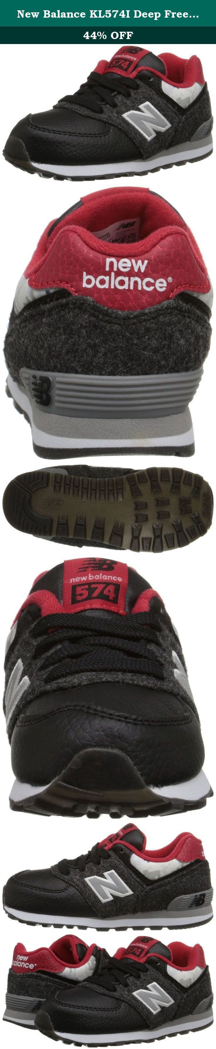 New Balance KL574I Deep Freeze Pack Classic Running Shoe (Infant/Toddler), Black/Red, 3 W US Infant. Ethylene vinyl acetate midsole and heel.