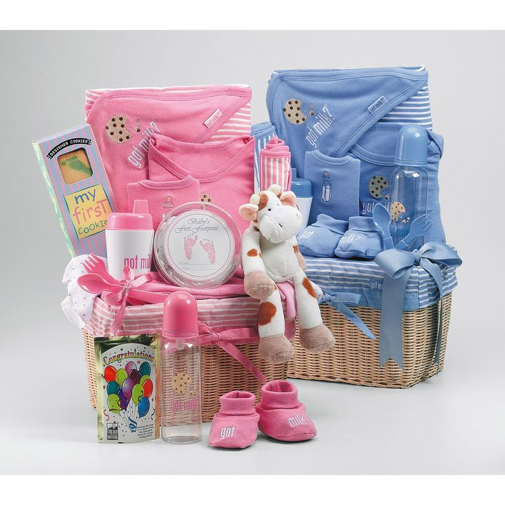 68 best gift baskets ideas images on pinterest gift tags basket new baby gift basket negle Image collections